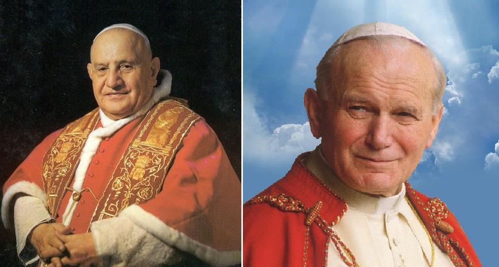 Popes John Paul II, John XXIII to be declared saints in April
