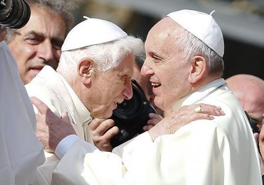 Two popes attend gathering of the wise and wrinkled at the Vatican