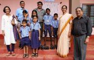 CASK distributes Footwear at St. Rafaels English Higher Primary school - Badyar