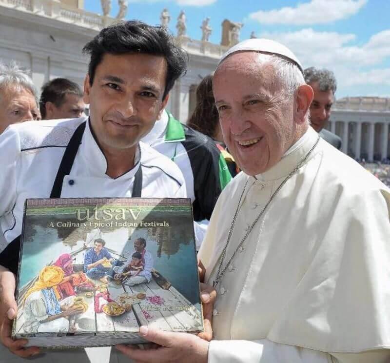 Bebinca to prawn pulao: When chef Vikas Khanna made dinner for the Pope